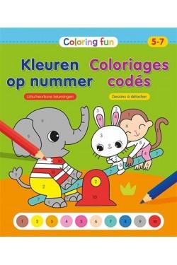 Coloriages codés, 5-7 ans :...