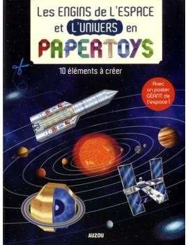 Les engins de l'espace et de l'univers en papertoys - 10 éléments à créer, avec un poster géant de l'espace !