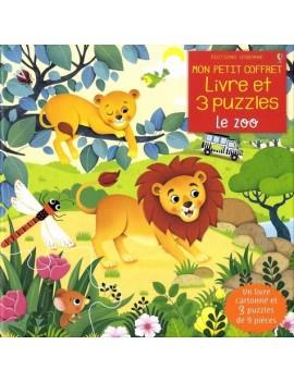 Le zoo - Avec 1 livre cartonné et 3 puzzles de 9 pièces