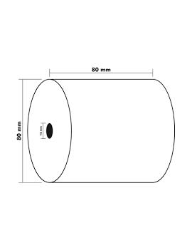Bobines Thermique 48g 80x80x12 mm 75 m EXACOMPTA