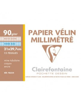 Pochette Papier Millimétré A4 90G