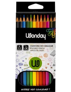Etui De 12 Crayons De Couleur Wonday