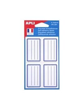 agipa Etiquettes pour livre, blanc/bleu, 36 x 56 mm