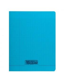Cahier Polypro bleu CALLIGRAPHE A4 96p Grands Carreaux