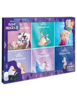 La Reine des Neiges - Coffret 12 Volumes : LA REINE DES NEIGES 1 ET 2 - Coffret 12 livres - 6 Histoires + 6 Coloriages
