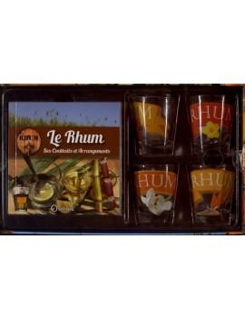 Le rhum - Ses cocktails et ses arrangements, avec 4 verres
