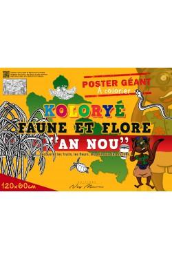"""Poster Géant KOLORYE FAUNE ET FLORE """"AN NOU"""""""