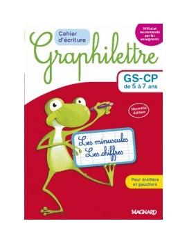 Cahier d'écriture Graphilettre GS-CP de 5 à 7 ans - Les minuscules et les chiffres